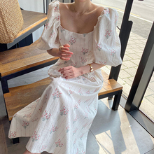 YAMDI party midi dress women elegant a-line korean woman short sleeve dresses 2020 new summer vintag