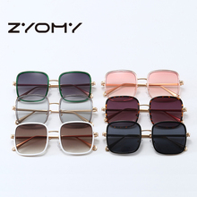 2020 New Square Large Frame Sunglasses Women Brand Designer Simple Literary Glas