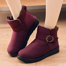 Ankle Boots 2019 Winter Shoes Woman Snow Boots Botas Mujer Waterproof Chunky Heel Women Shoes Flat Platform Casual Warm Boots цены онлайн