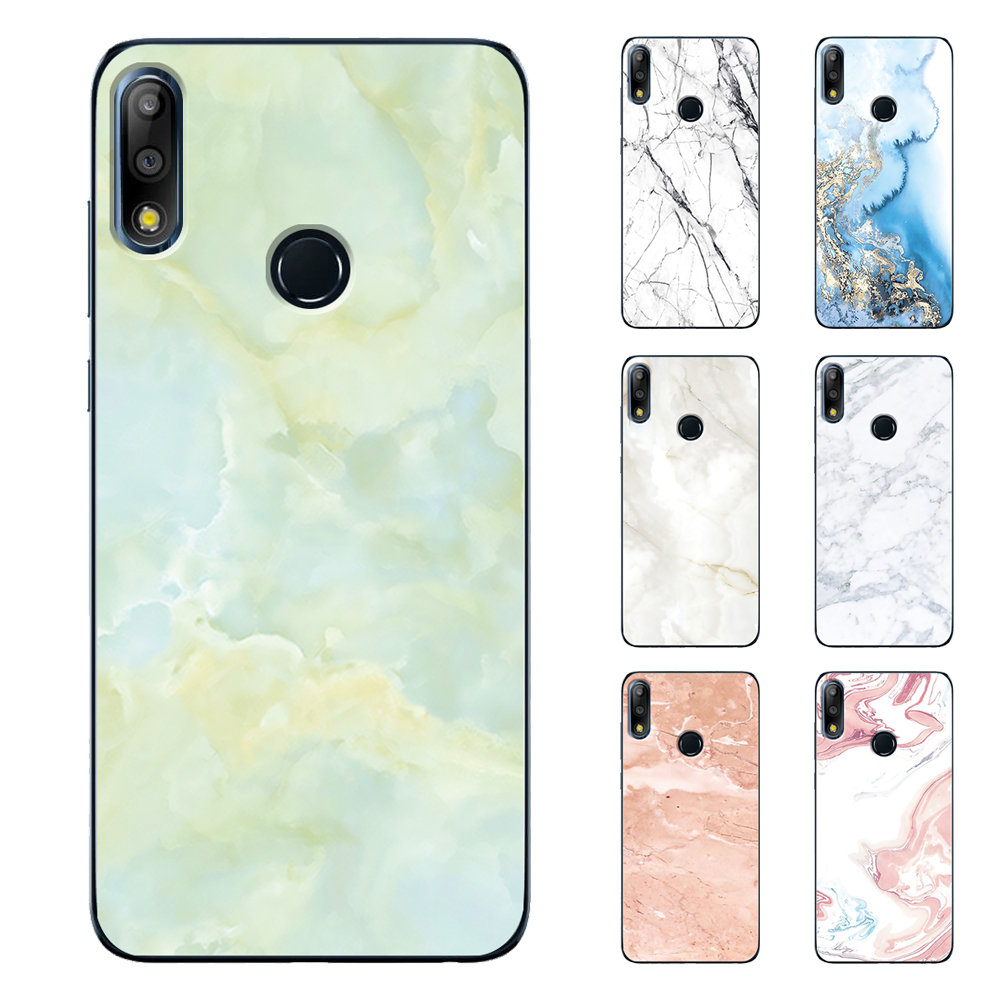 Phone <font><b>Case</b></font> for <font><b>ASUS</b></font> <font><b>Zenfone</b></font> <font><b>6</b></font> <font><b>2019</b></font> 4 Max Pro M1 M2 Live L1 5Z ZS620KL TPU Granite Marble Texture soft Back Cover image