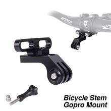 цена на MTB Road Bike Bicycle Gopro Mount Bike Handlebar Stem Extension Holder GPS Go pro Camera Flashlight Holder Stem Adapter