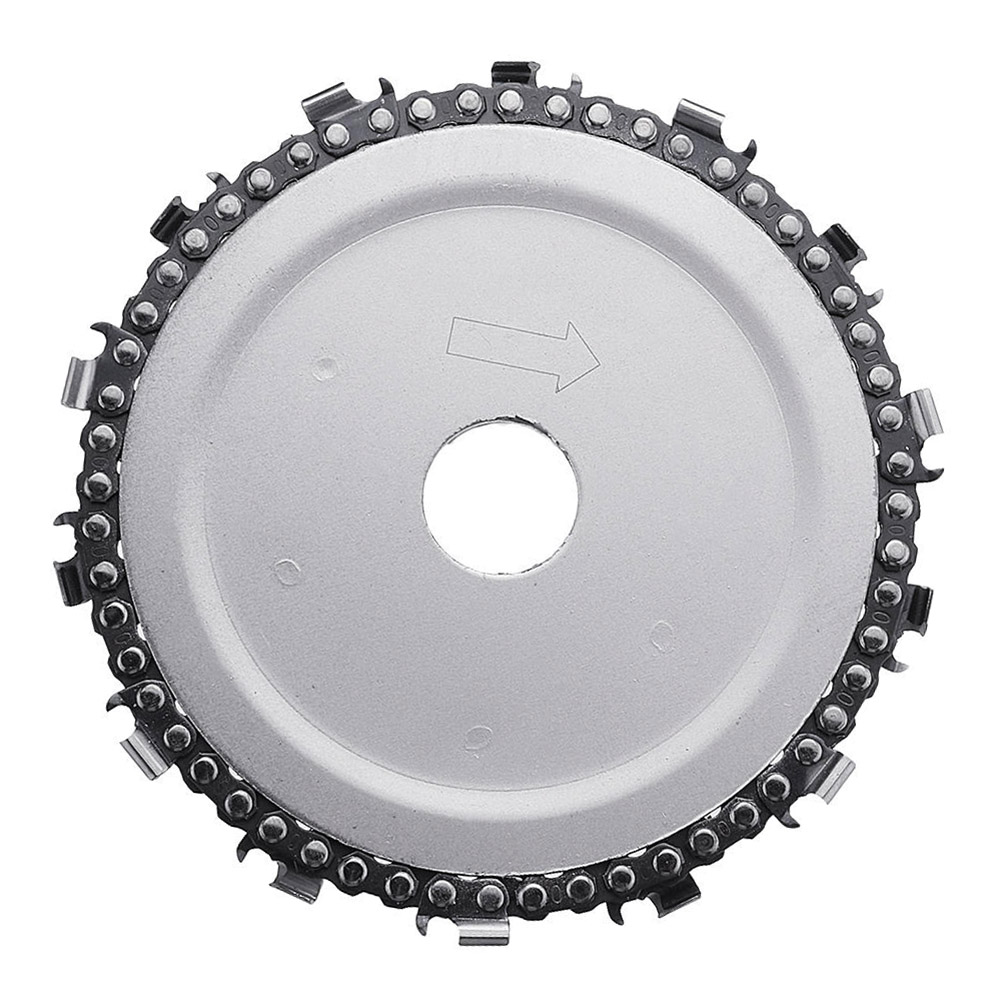 5 Inch Grinder Chain Disc Arbor 14 Teeth Wood Carving Disc For 125mm Angle Grinder JAN88