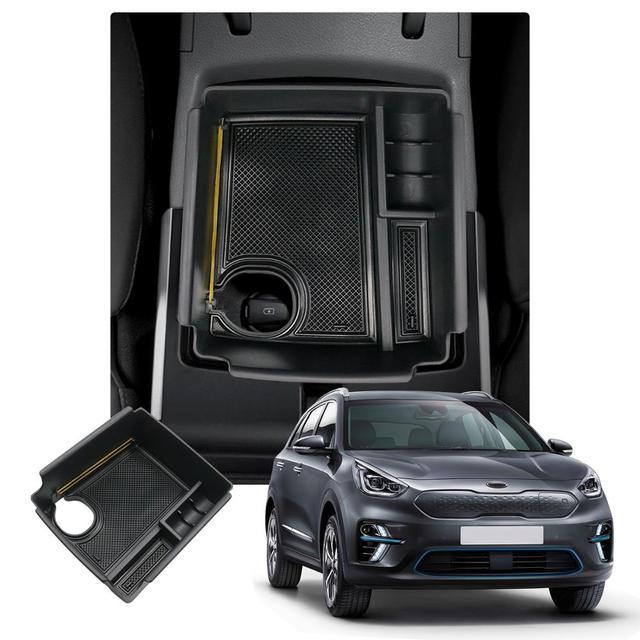RUIYA Car Central Control Armrest Storage Box For Niro EV Electric Version 2019 Auto Anti Slip Storage Box Interior Accessories