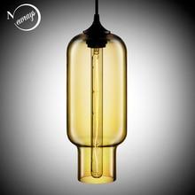 7 สีอุตสาหกรรมแก้วที่มีสีสันBallโคมไฟLEDจี้โมเดิร์นE27 ไฟสำหรับห้องครัวห้องนั่งเล่นCafe Bar