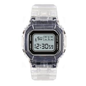 Image 5 - Nữ Sang Trọng Hoa Hồng Vàng Đồng Hồ Nam Dây Silicon Thời Trang Nữ Đèn LED Kỹ Thuật Số Đồng Hồ Casual Nữ Đồng Hồ Điện Tử Reloj Mujer 2020