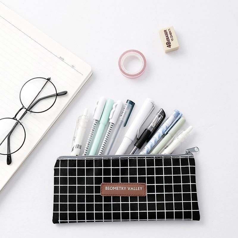 Organizer Bag Case Makeup-Pouch Cosmetic-Bag Canvas Kawaii Stationery Storage Women Cute