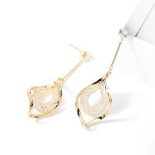 S925 silver needle spiral high-end ladies earrings, Korean fringed temperament fashion long earrings