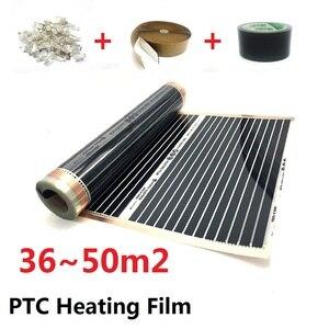 Image 1 - 36 ~ 50m2 תת רצפתי חימום סרט 220 w/m2 AC220V PTC Infared התחממות מחצלת חיסכון באנרגיה