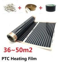 36 ~ 50m2 folia grzewcza podłogowa 220 w/m2 AC220V PTC mata ocieplająca na podczerwień oszczędność energii