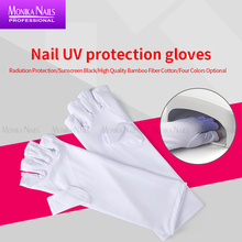 Glove Gel-Polish Nail-Art Manicure-Dryer Protection-Tools Fingerless Anti-Ultraviolet