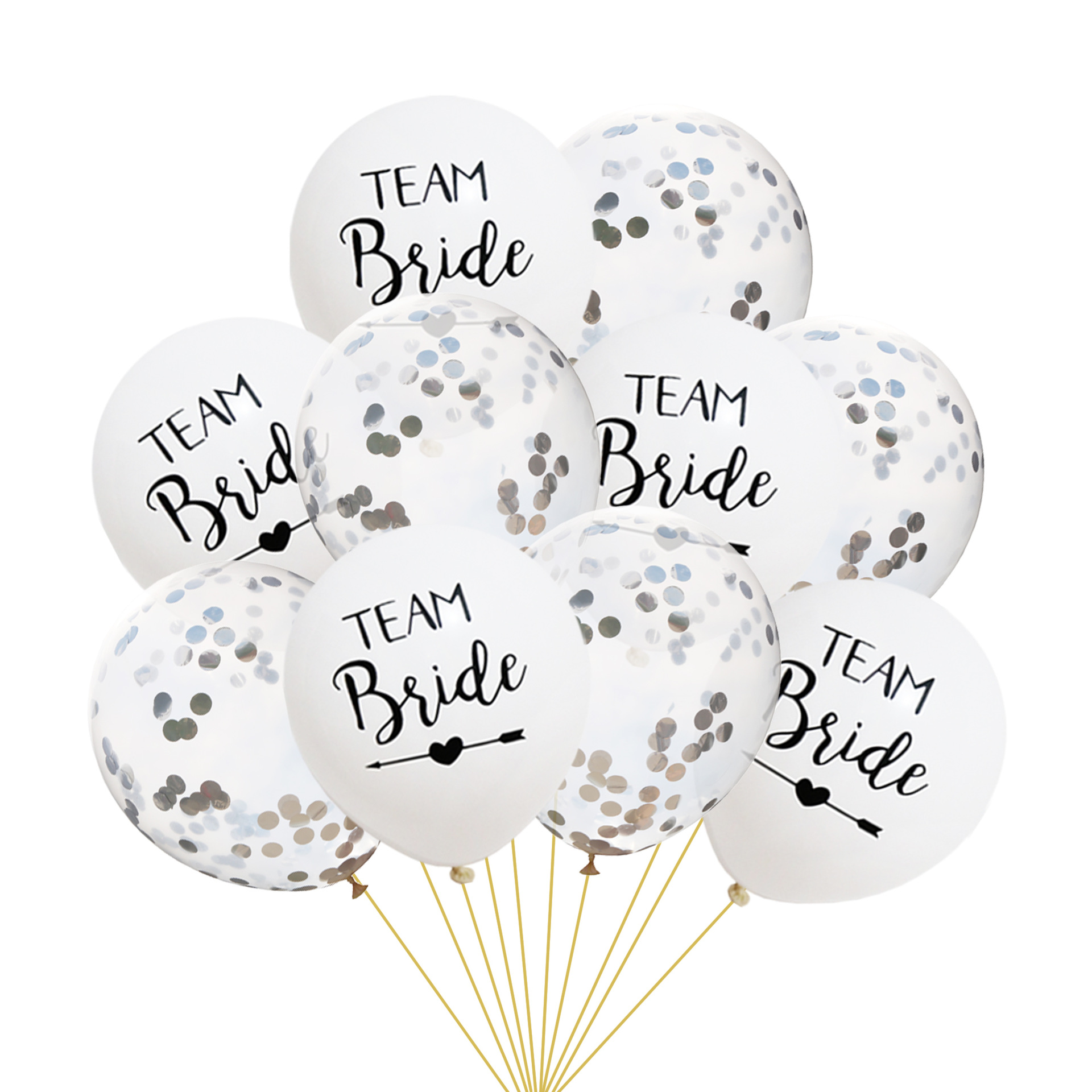 Twins Party Bride Latex Balloons Hen Party Accessories Bridal Shower Bachelorette Party Wedding Team Birde Just Married Balloons in Party DIY Decorations from Home Garden