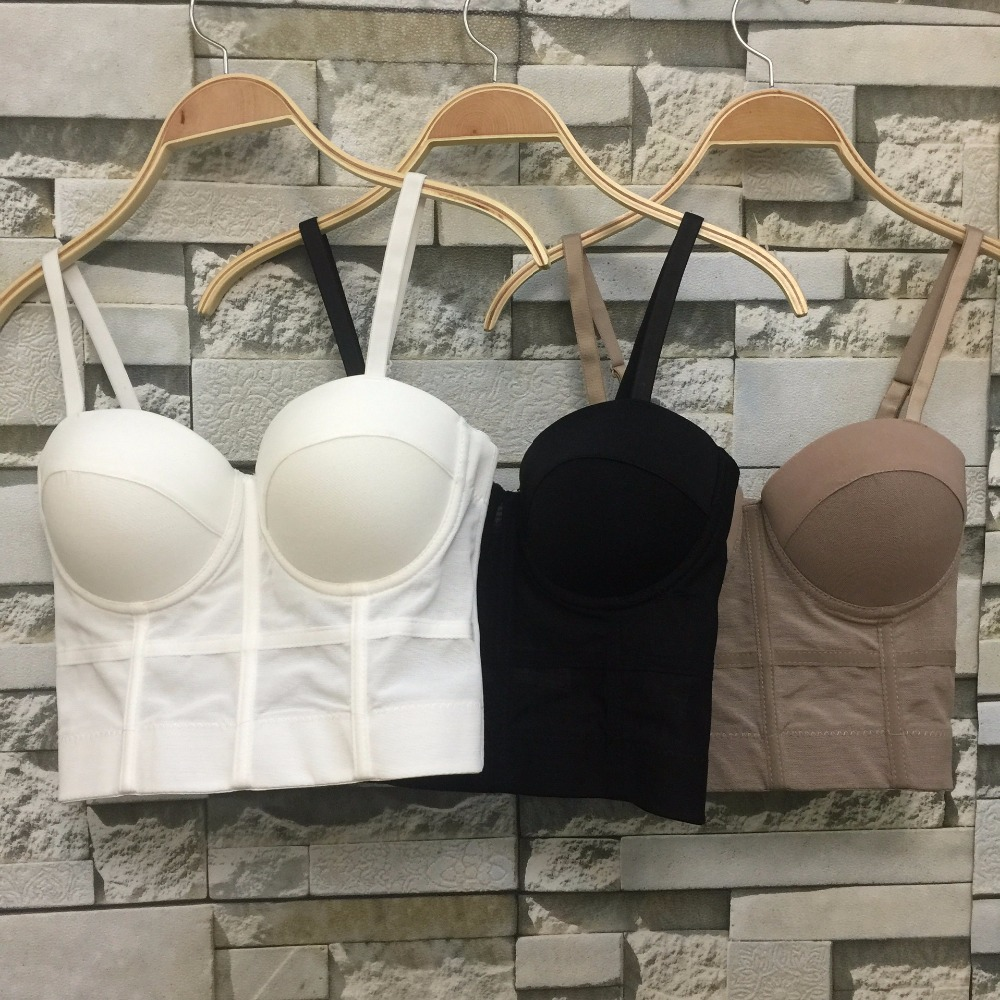 New Fashion Mesh Push Up Bralet Women's Corset Bustier Bra Night Club Party Cropped Top