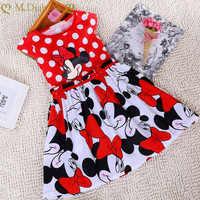 Vestido de dibujos animados de Minnie para niñas pequeñas, bonito vestido de princesa para fiesta de cumpleaños y Navidad