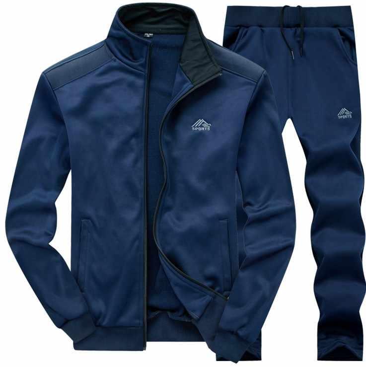 Hommes ensembles mode automne printemps sport costume sweat + pantalons de survêtement hommes vêtements 2 pièces ensembles mince survêtements à capuche