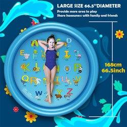 Nouveaux jeux d'eau tapis de plage tapis pelouse gonflable jet d'eau coussin natation piscine jouet
