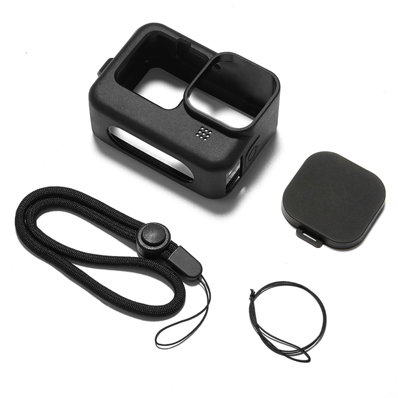 Silicon Protective Cover For Gopro Hero 9 Black Sleeve Housing Case Frame With Lanyard Accessory With Lens Case For Go Pro 9