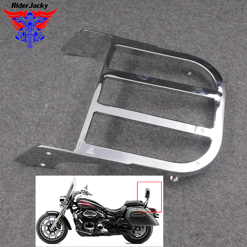 For Yamaha V-Star 400/650 Classic 650 <font><b>1100</b></font> Classic <font><b>XVS</b></font> 1998-2011 08 2009 2010 Chrome Motorcycle Backrest Sissy Bar Luggage Rack image