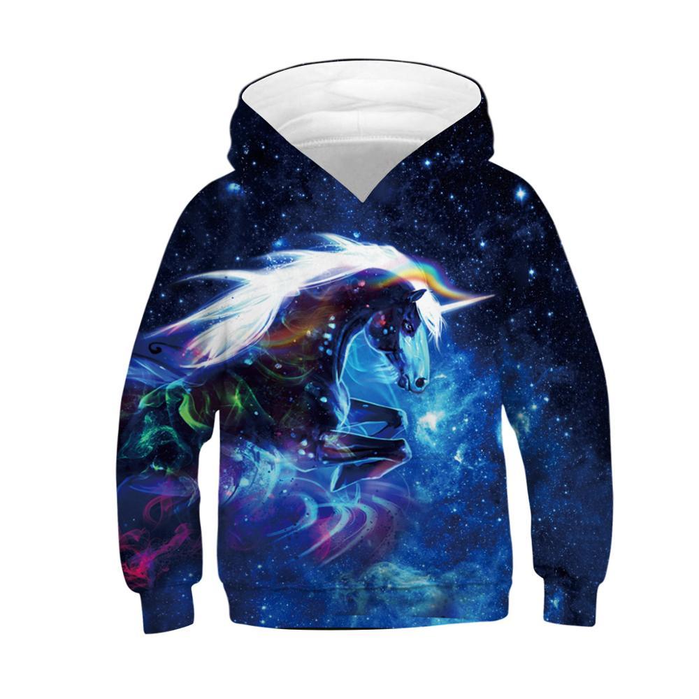 Image 3 - 3D Printed Unicorn Hoodies Children Sweatshirts Boys Oversized Hoodie for Girls Teen Streetwear Pullover Kids Hip Hop ClothesHoodies & Sweatshirts   -