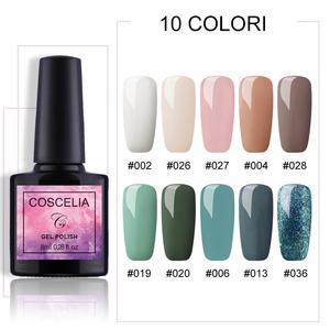 Image 1 - COSCELIA 6/8/10 Colors Gel Nail Polish For Nails Polish UV Gel Nail Set Kit For Nail Art Varnish Gel Set