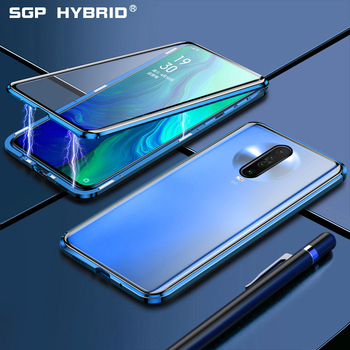 Magnetic Case For Xiaomi Redmi K30 K 30 Note 8 Note8 8t 7 K20 Mi Note 10 Pro Double Sided Tempered Glass Clean Back Cover Cases