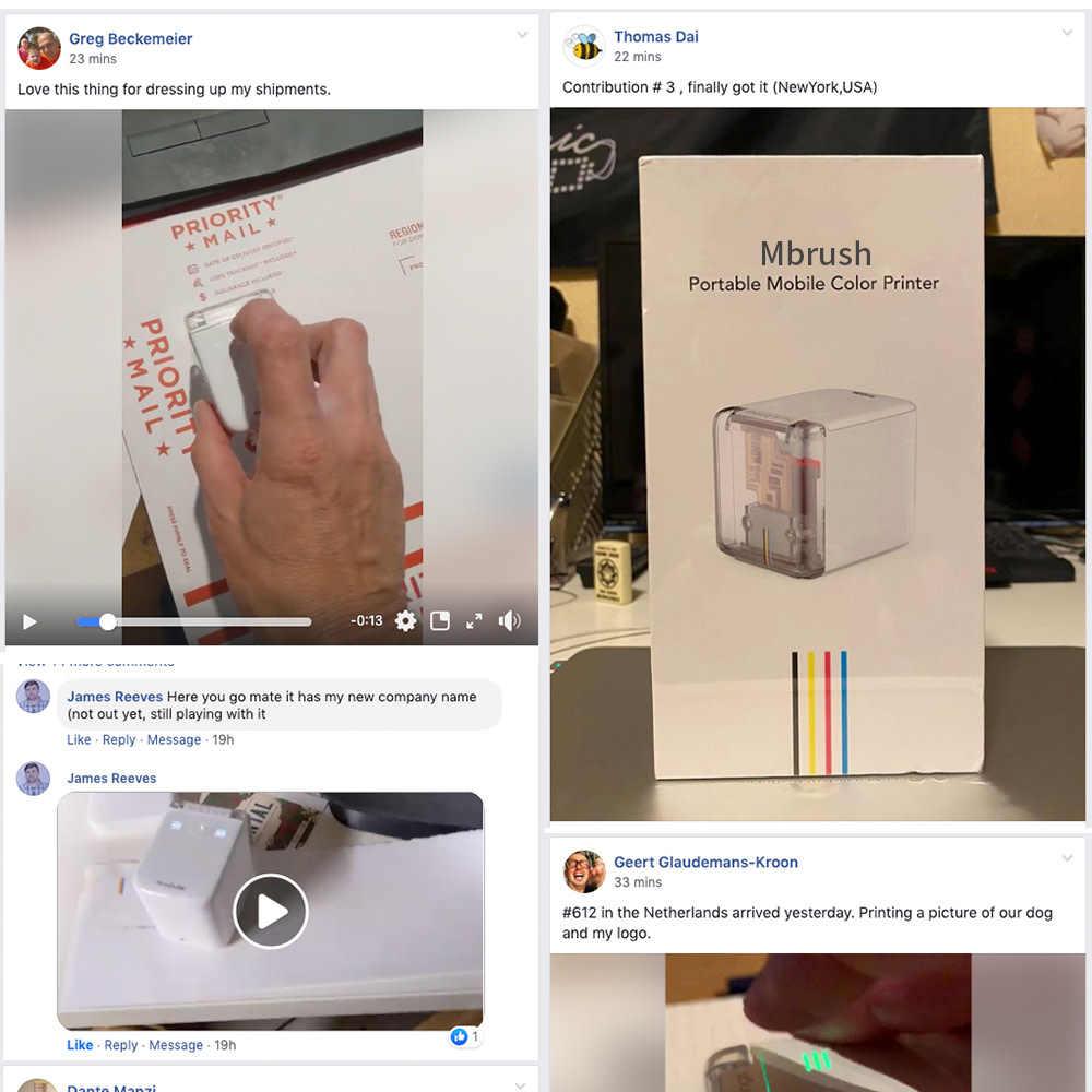 Mobilna drukarka atramentowa kolorowa Mbrush kodowanie partii kod kreskowy data etykieta tatoo logo mini przenośna ręczna drukarka z atramentem