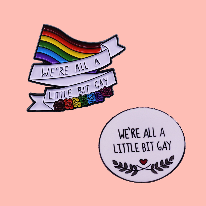 Эмалированная брошь для гомосексуалистов мы все немного гордимся, булавки, значки, булавки для лацканов, Модные металлические ювелирные из...