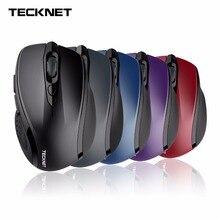 TeckNet Wireless Mouse USB 2600DPI Adjustable USB Receiver Optical Computer Mouse 2.4GHz Ergonomic Mice For Laptop PC Mouse цена и фото
