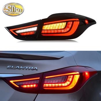 цена на Car LED Tail Light Taillight For Hyundai Elantra 2011 - 2016 Rear Running light + Brake Light + Reverse + Dynamic Turn Signal