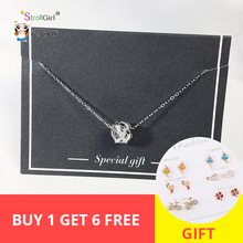 925 Sterling Silver choker bohemian CZ stone Hollow round ball Pendant Necklace Elegant women/girl  jewelry gift 2019 collier