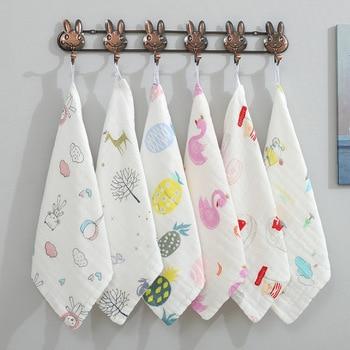 30x30cm 1pc Ręcznik Dla Niemowląt Noworodka Muślin Kwadraty Ręcznik Dla Niemowląt S I Myjki Komfort Dziecko Muślin Kwadraty Muselina Bebe Algodon
