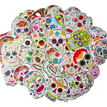 55Pcs Mixed Colorful Terror Graffiti Stickers For Luggage Laptop Skateboard Bicycle Motorcycle Car Cool Horror Halloween Decor