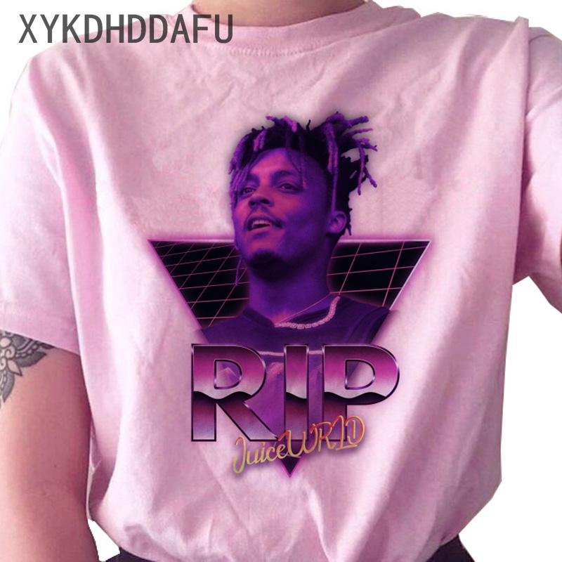 H7ee8984793474d7ea8106d225ae2999du - Juice Wrld T Shirt Women R.I.P Hip Hop Rapper Streetwear Tshirt Print Clothing Female Casual Ulzzang Graphic T-shirt Top Tees