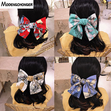 Bohemia Big Large Barrette Two Levels Chiffon Hair Bow Flower Clips For Women Girls Hairgrips High Quality Accessories