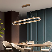 Modern LED Chandelier Nordic Atmosphere Simplicity Living Room Bedroom Kitchen Luster Golden Hanging Lamp Home Decor Fixtures