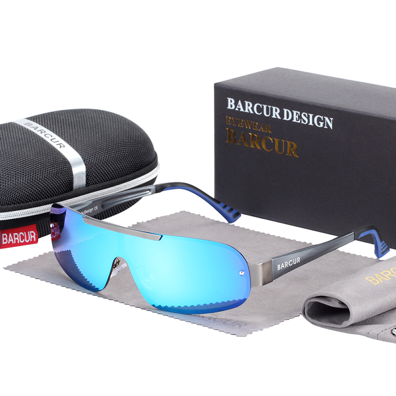 Polarized Pilot Sunglasses Gun Blue