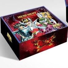 Tamanho original zero saint seiya 50-210 unidades/pacote tcg, jogo, cartas, brinquedos de mesa para família, crianças, presente de natal