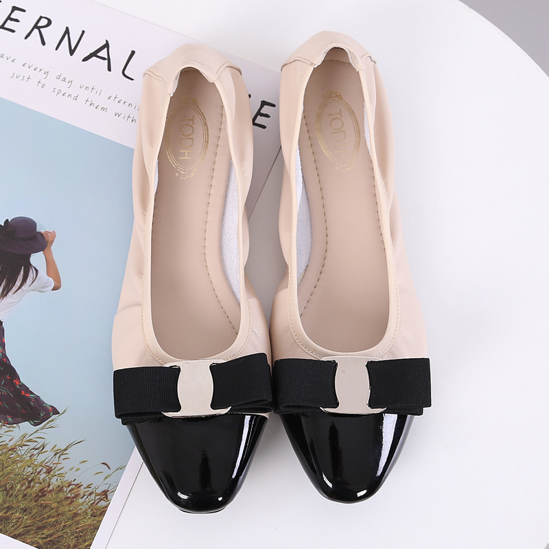 Image 2 - Shoes Woman Sapato Feminino Zapatos Mujer 2019 Loafers Women Ballerina Femme Women flat Shoes Ballet flats Round Toe Rubber PUWomens Flats   -