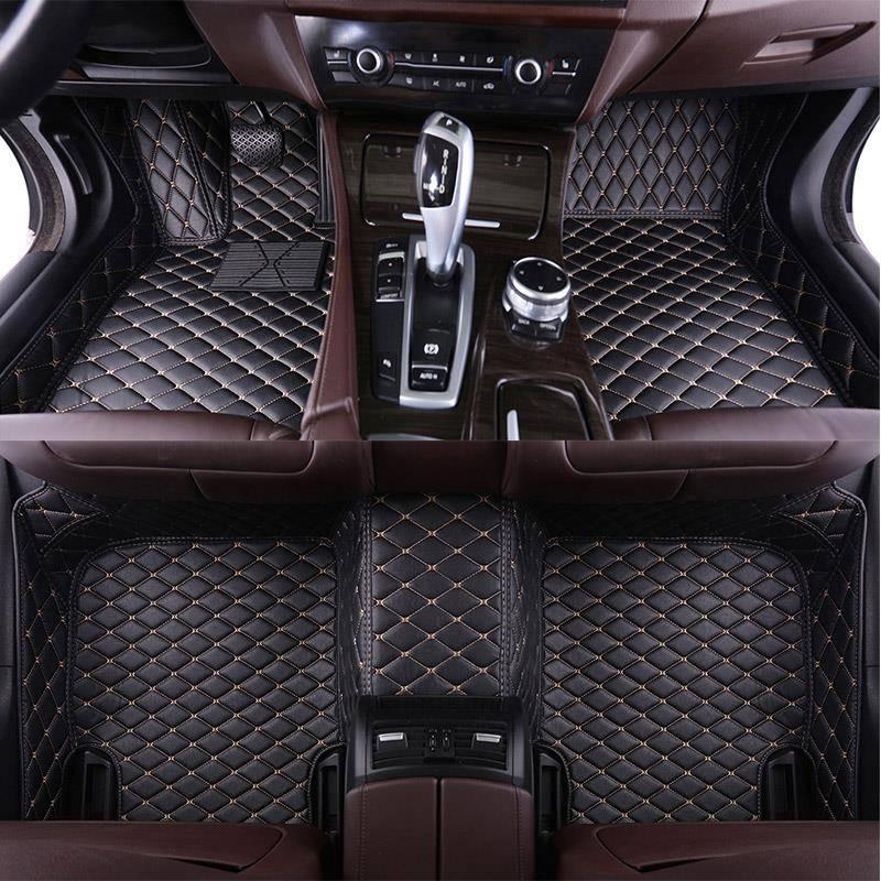 Personalizada de couro Auto Pé tapete do assoalho do carro Para bmw f10 f11 x3 x4 x5 e53 e70 e83 f48 f34 e70 x6 e71 e90 x1 e30 acessórios à prova d água