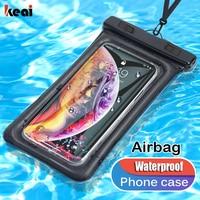 Funda IPX8 impermeable para teléfono, funda Universal a prueba de agua para natación, para iPhone 11, Samsung, A51, Huawei, Xiaomi Redmi Note 8, 9 Pro