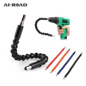 295mm Flexible Shaft Hex Flex Electric Drill Universal shaft Extention Screwdriver Bit Holder Connect Rod Car Repair Tools Black(China)
