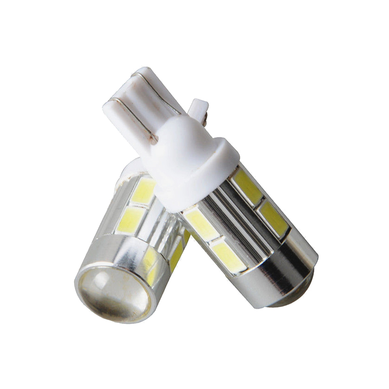 2x Car T10 W5W LED Signal Bulb Interior Light 12V Super Bright Auto Turn Wedge Side License Plate Tunk Luggage Lamp 5630 10SMD