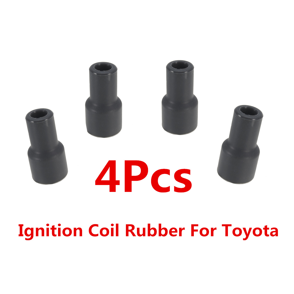 4x pc Ignition Coil Tip Rubber Boots Cover Spark Plug Cap For Toyota 90919-11009