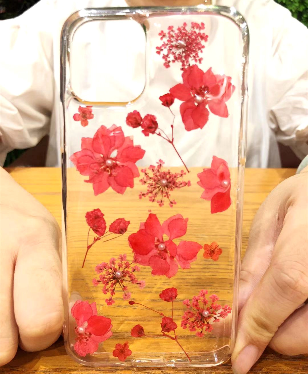 Real Dried Flowers Clear TPU Case for iPhone 11/11 Pro/11 Pro Max 18