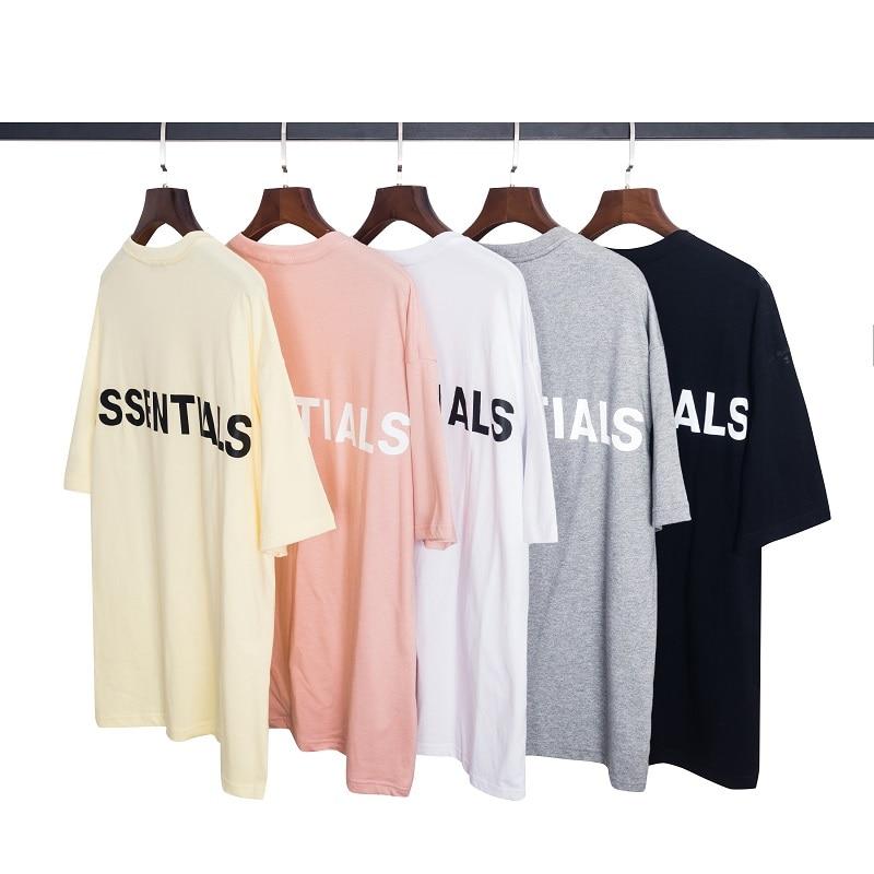 QoolXCWear 2020 Men/women T-shirt Kanye West Fog Loose T Shirt Ovesized High Street Essentials Hip Hop Cotton Tshirt Tops Tee