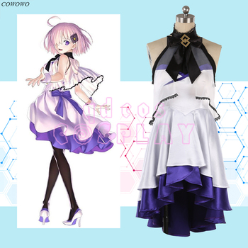 Anime! Fate/Grand Order FGO Waltz Mash Kyrielight 5th Anniversary Dress Lovely Uniform Cosplay Costume Halloween Dailydress NEW 1
