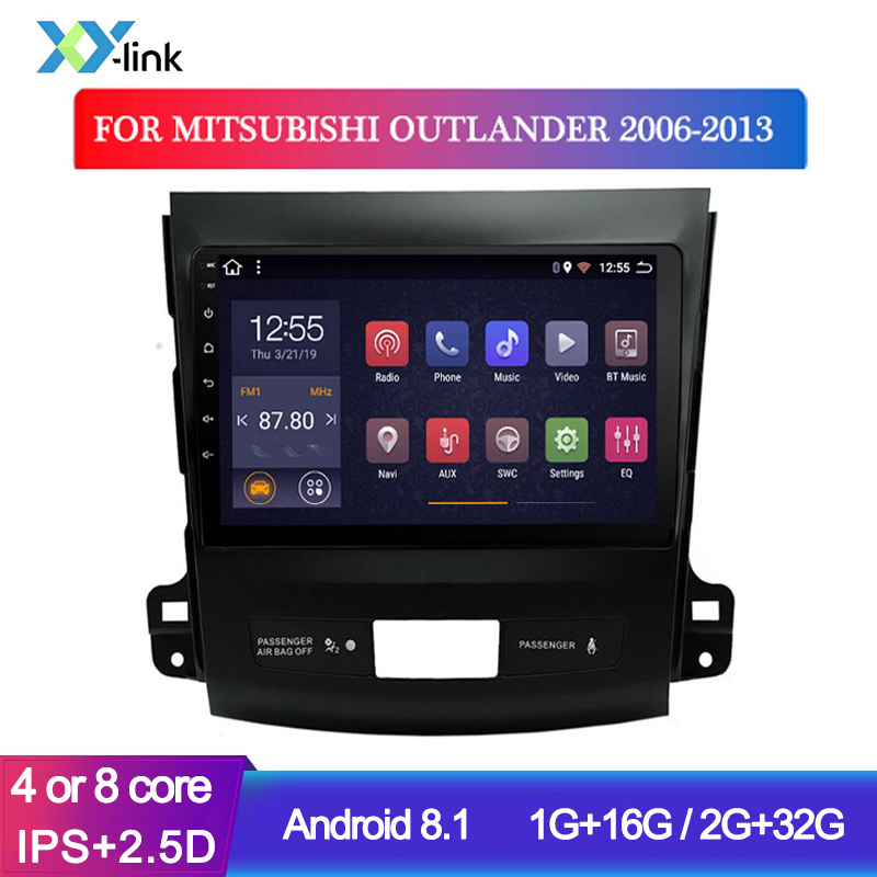 Car accessory Multimedia player <font><b>Android</b></font> 8.1 Radio stereo For <font><b>Mitsubishi</b></font> <font><b>Outlander</b></font> 2006-2013 GPS Navigation system no 2 din dvr image