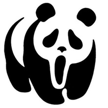 Car Decal panda Creek exterior accessories for cars and motorcycles vinyl sticker funny decals