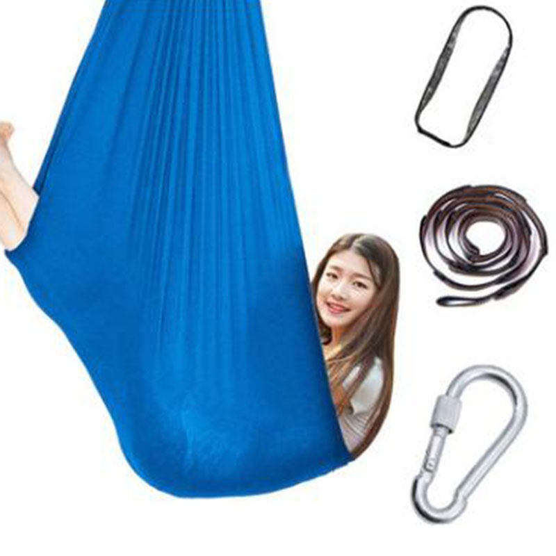 Kids Nylon Swing Hammock Indoor Therapy Swing With Special Needs Elastic Parcel Steady Seat Swing Cuddle Hammock For Children