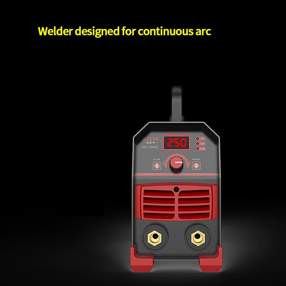 Сварочный аппарат DC инвертор 225A Электрический сварочный инструмент автоматический бытовой миниатюрный медный мини 220В коробка комбиниров...