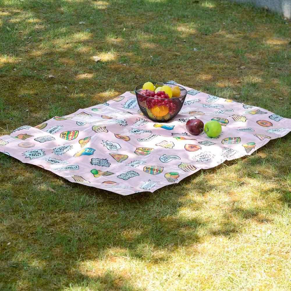 Cartoon 129x89cm Camping Matte Tisch Tuch Folding Camping Matratze Im Freien Wasserdichte Strand Picknick Decke Wandern BeachPad